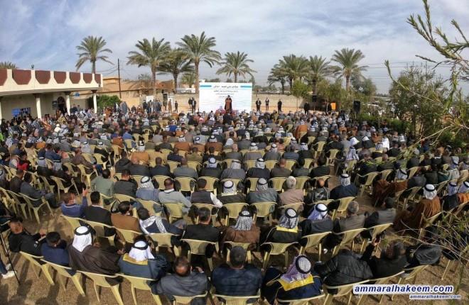 من ديالى .. السيد عمار الحكيم يحذر من التراخي في موضوعة الامن ويدعو لادامة العمليات الاستباقية ضد جيوب الارهاب
