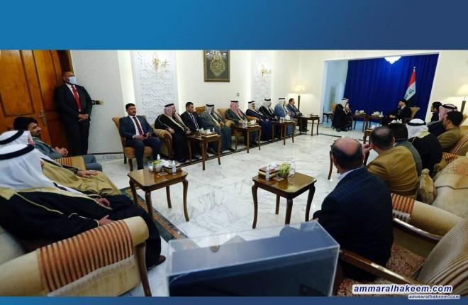 السيد عمار الحكيم يستقبل وفدا مشتركا من المجلس الوطني لقبائل نينوى والطائفة العلوية