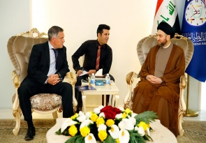 السيد عمار الحكيم لسفير الاتحاد الاوربي : تحرير الموصل سينعكس ايجابا على امن دول وعواصم العالم
